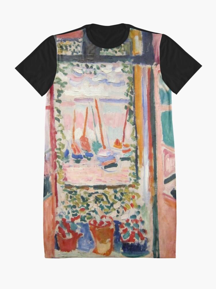 Alternate view of The Open Window- Henri Matisse Graphic T-Shirt Dress