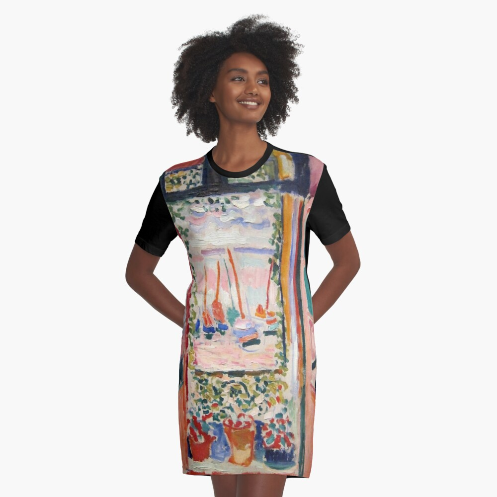 The Open Window- Henri Matisse Graphic T-Shirt Dress
