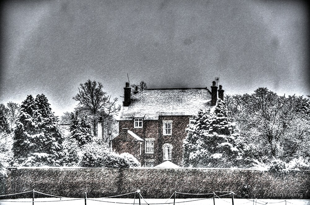 Snow House in the Snow by JohnYoung