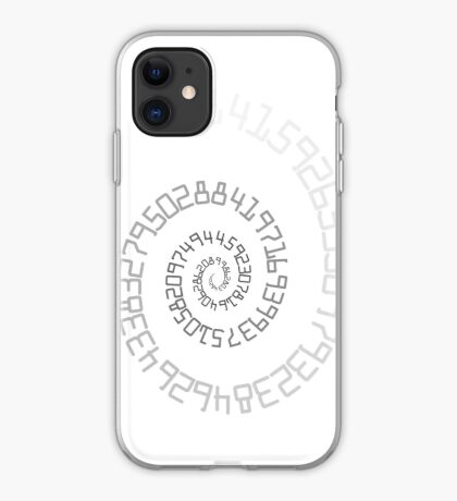 PI Spiral 004 White to Black iPhone Case