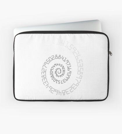 PI Spiral 004 White to Black Laptop Sleeve