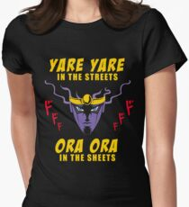 Yare Yare in the streets Women's Fitted T-Shirt