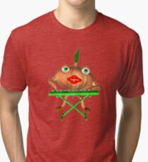 Onion Peels keyboard by Valxart Tri-blend T-Shirt