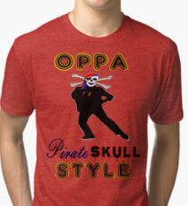 ★ټPirate Skull Style Hilarious Clothing & Stickersټ★ Tri-blend T-Shirt