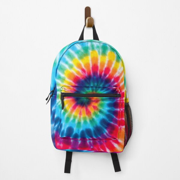 Backpack TIE DYE Colorful Rainbow Spiral Backpack