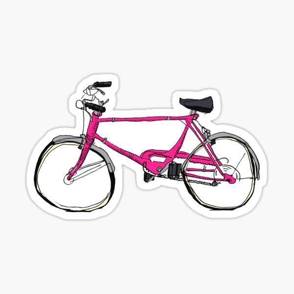 Cruiser Fahrrad Pink Sticker