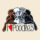 I Love Poodles by offleashart