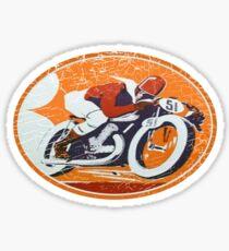orange rider Sticker
