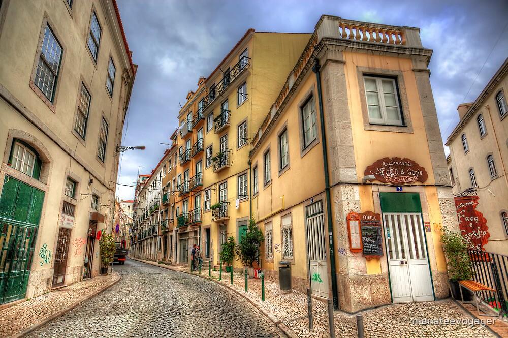 Backstreets Of Lisbon by manateevoyager