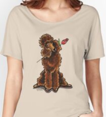 Chocolate Poodle Sweetheart Women's Relaxed Fit T-Shirt