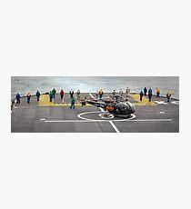 Safety Walkdown - Helicopter Flight Deck Photographic Print