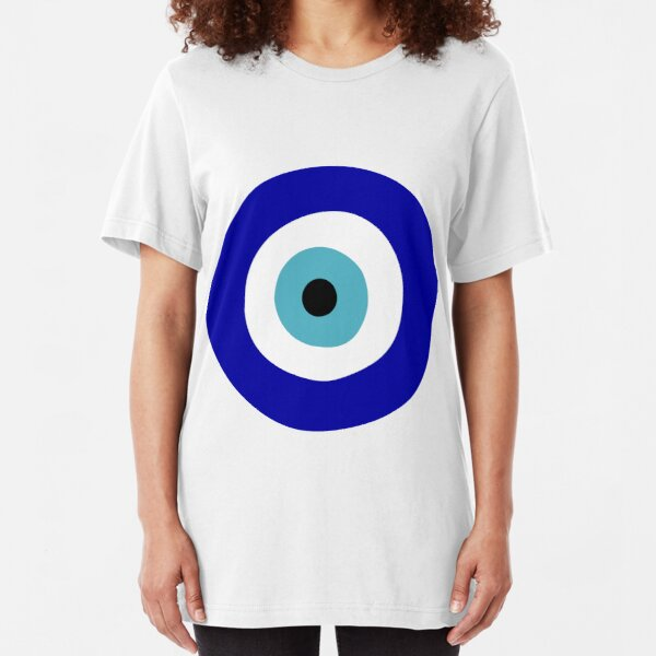 Protection Symbol Blue Evil Eye of Protection Slim Fit T-Shirt