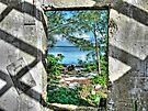 Paradise View Through The Window in North Andros Island, The Bahamas by Jeremy Lavender Photography