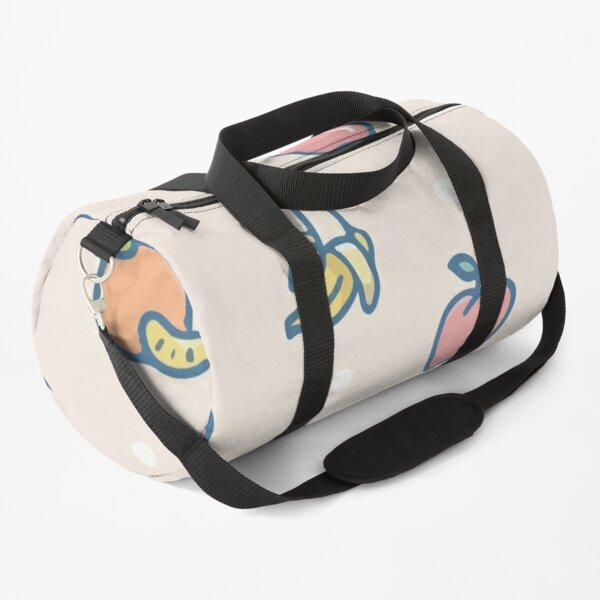 Hand drawn colored pears maracuja lemons Duffle Bag