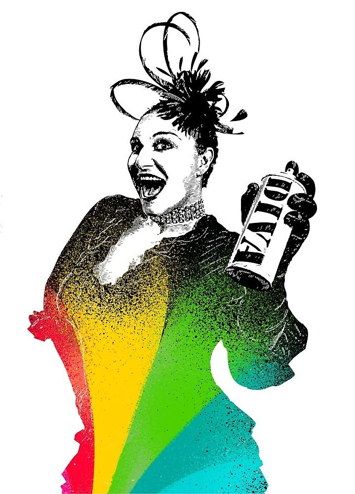 Rainbow Diva by KatherineEllis