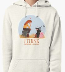 I think therefore I am vegan Pullover Hoodie