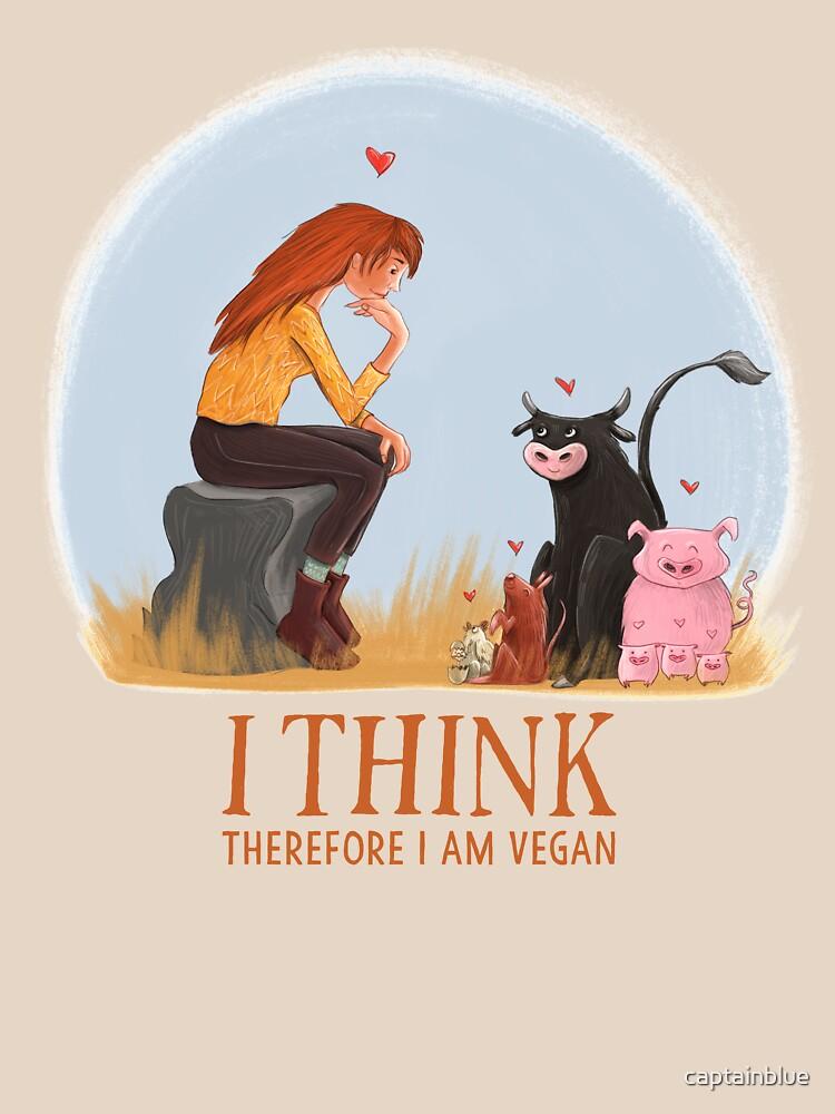 I think therefore I am vegan | Unisex T-Shirt