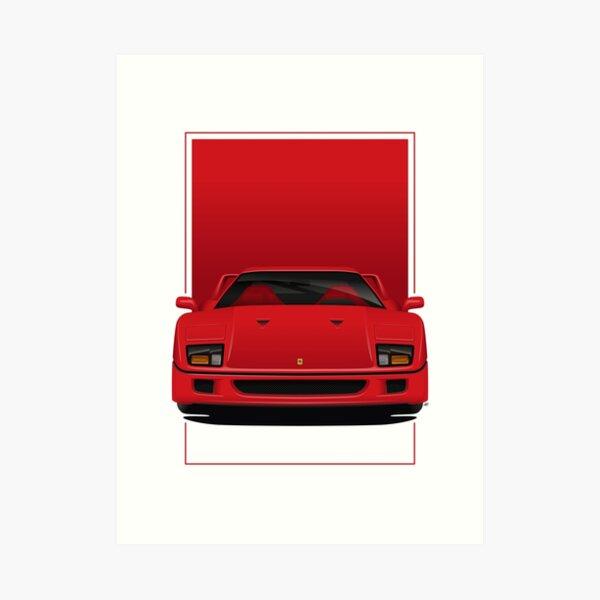 Ferrari F40 Art Print