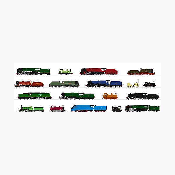 Iconic British Steam Trains Photographic Print