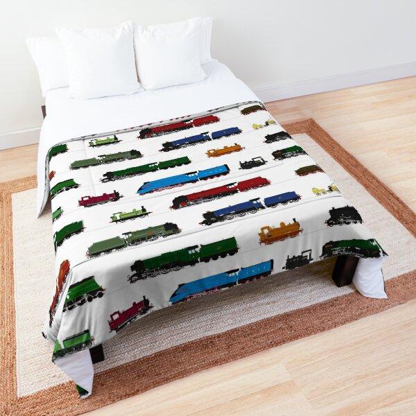 Iconic British Steam Trains Comforter