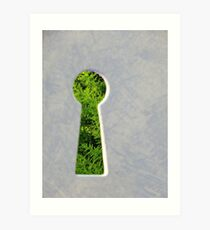 Through the Keyhole Art Print