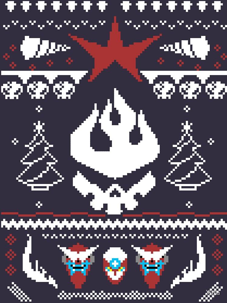 An Ugly Gurren Lagann Christmas Sweater  | Long Sleeve