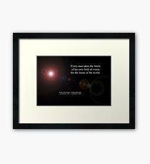 Field Of Vision By Arthur Schopenhauer Framed Print