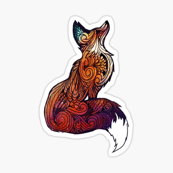 Space Fox Pegatina