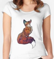 Space Fox Women's Fitted Scoop T-Shirt