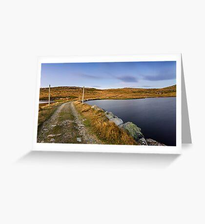 The Hut's Path  Greeting Card