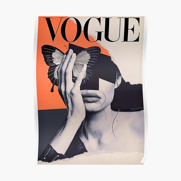 VOGUE Butterfly Vintage Poster