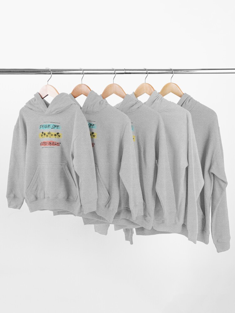 Alternate view of Pogue Life Outer Banks Retro Palm Kids Pullover Hoodie