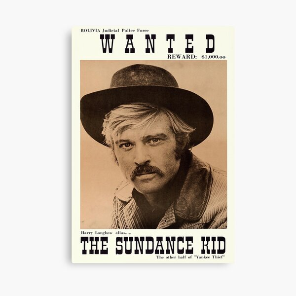 Butch Cassidy and the Sundance Kid - Vintage Movie Poster Canvas Print