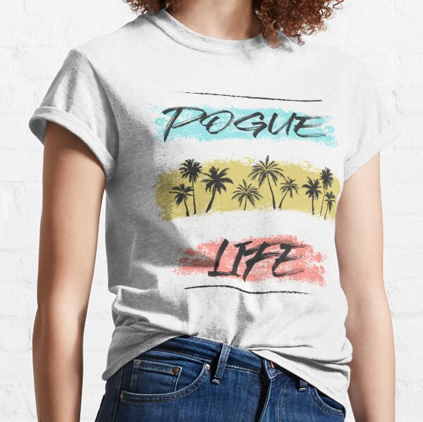 Pogue Life Outer Banks Retro Palm Camiseta clásica