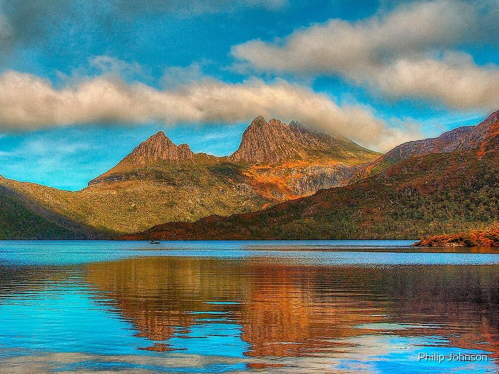 Cradle in Fagus # 2 - Cradle Mountain , Tasmania Australia - The HDR Experience by Philip Johnson