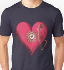 ♥•.¸¸.ஐ CALL ME.. HEART PHONE TEE SHIRT ♥•.¸¸.ஐ Unisex T-Shirt