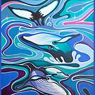 Whale sparkles by Mealie Art