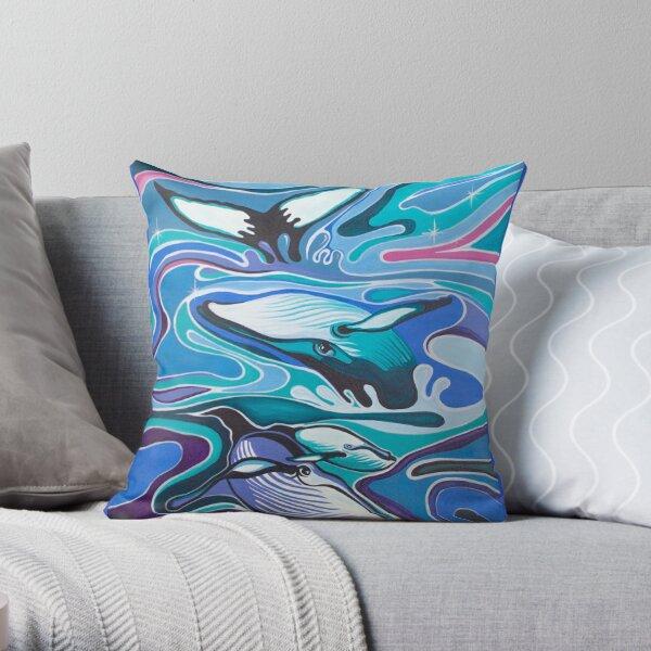 Whale sparkles Throw Pillow