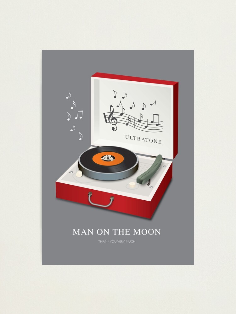 Alternate view of Man on the Moon - Alternative Movie Poster Photographic Print