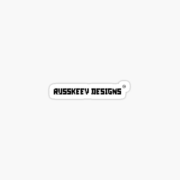 Russkeey Designs Banner (Black) Sticker