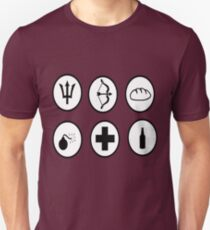 Hunger Games Character Icons Unisex T-Shirt