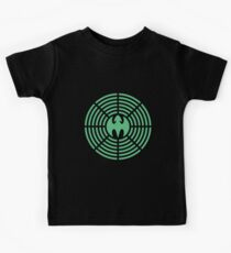 Futuristic Green Luck Dragon Design, Green Luck Dragon Symbolism, Health, Wealth And Prosperity Kids Tee
