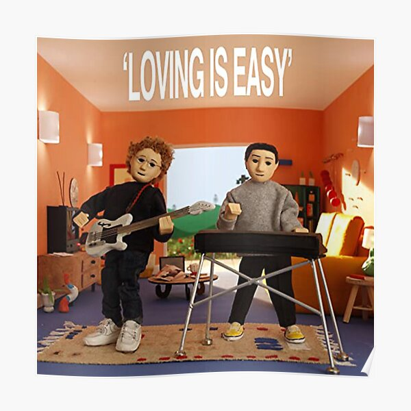 Rex Orange County - Loving is Easy Carátula del álbum Póster