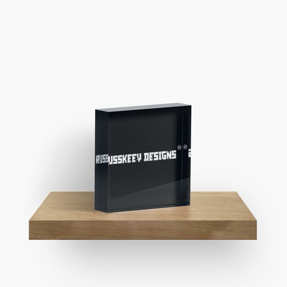 Russkeey Designs Banner (White) Acrylic Block