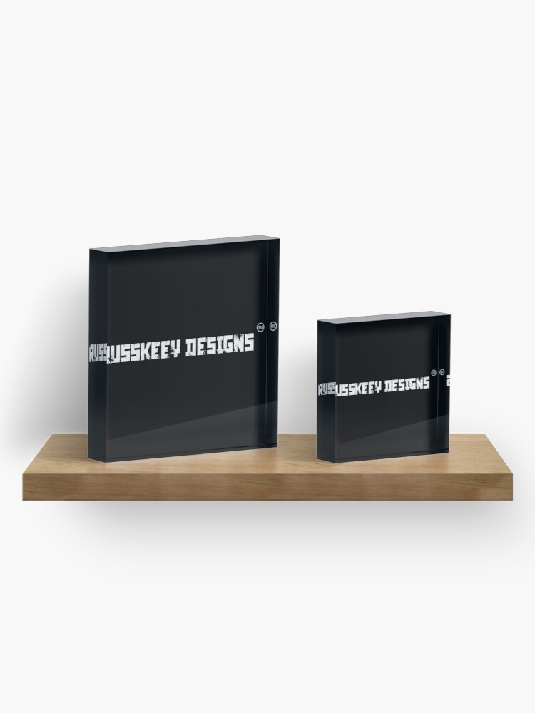 Alternate view of Russkeey Designs Banner (White) Acrylic Block