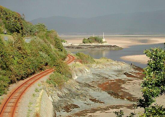 Single Track Railway Line by AnnDixon