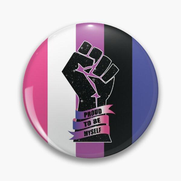 GenderFluid Resistance Fist Pin