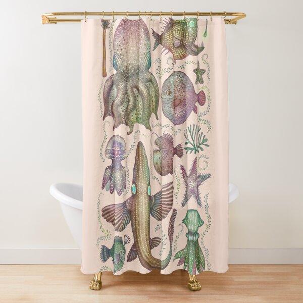 Sea life specimens Shower Curtain