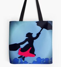 Mary Poppins In Flight Tote Bag