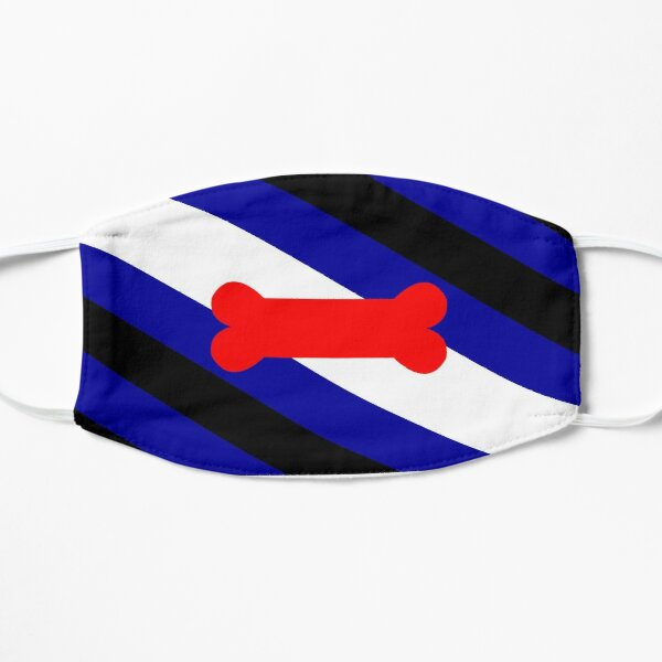Pup Pride Flag Flache Maske